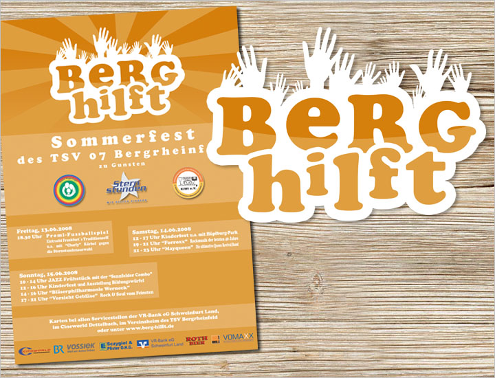 Flyer Initiative Berg hilft